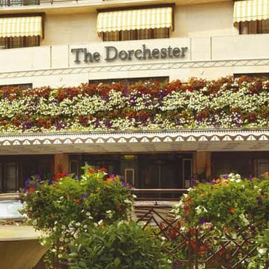 Picture of The Dorchester Hotel in the Daytime Taken from Outside.